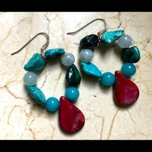 Gorgeous turquoise sterling silver earrings